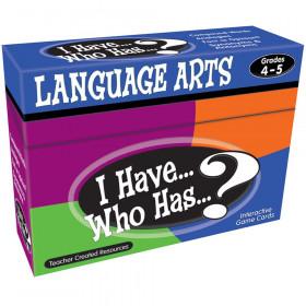 I Have, Who Has Language Arts Game, Grade 4-5