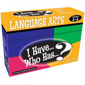 I Have, Who Has Language Arts Game, Grade 5-6