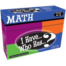 I Have, Who Has Math Game, Grade 4-5