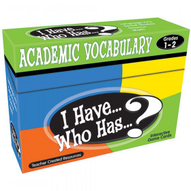 I Have, Who Has Academic Vocabulary Game, Grade 1-2