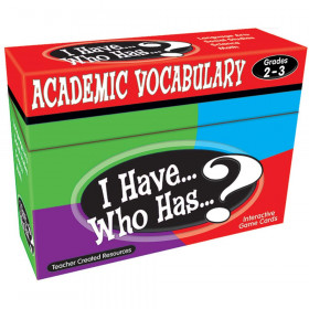 I Have... Who Has...? Academic Vocabulary Game (Gr. 2?3)