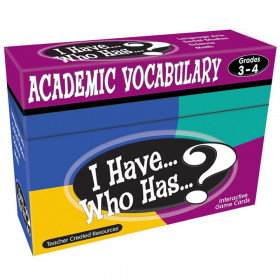 I Have, Who Has Academic Vocabulary Game, Grade 3-4