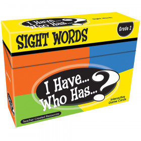 I Have, Who Has Sight Words Game, Grade 2