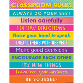 Colorful Vibes Rules Chart