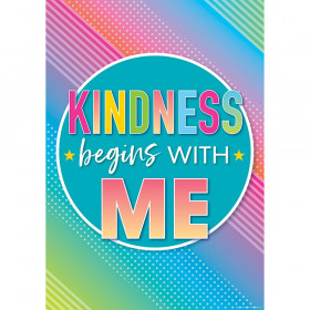 Kindness Begins With Me Posters Colorful Vibes