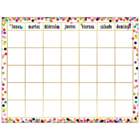 Confetti Spanish Calendar Chart
