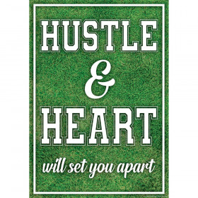 Hustle & Heart Will Set You Apart Positive Poster