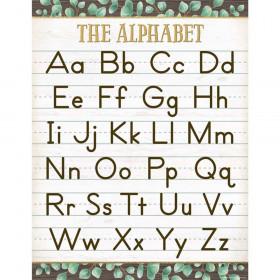 "Eucalyptus The Alphabet Chart, 17"" x 22"""