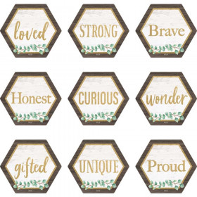 Eucalyptus Positive Words Mini Accents, Pack of 36