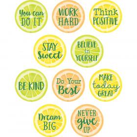 Lemon Zest Positive Saying Accents, Pack of 30