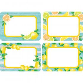Lemon Zest Name Tags/Labels - Multi-Pack, Pack of 36