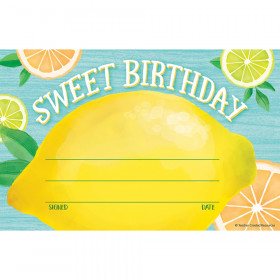 Lemon Zest Sweet Birthday Awards, Pack of 30