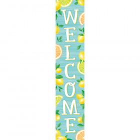 """Lemon Zest Welcome Banner, 8"""" x 39"""""""