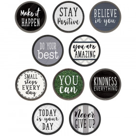 Modern Farmhouse Positive Saying Accents, Pack of 30