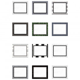 Modern Farmhouse Blank Cards Mini Accents, Pack of 36