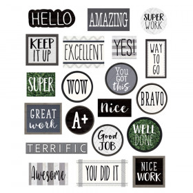 Modern Farmhouse Stickers, Pack of 120