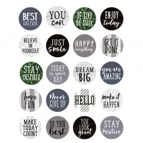 Modern Farmhouse Words to Inspire Planner Stickers, Pack of 120