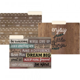Farmhouse Chic File Folders, Letter Size, Pack of 12