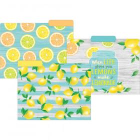 Lemon Zest Letter-Sized File Folders, Pack of 12