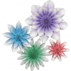 Floral Bloom Paper Flowers, Pack of 4