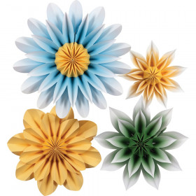 Floral Sunshine Paper Flowers, Pack of 4