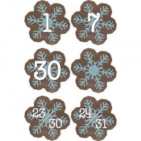 Home Sweet Classroom Snowflakes Calendar Days, Pack of 36