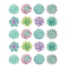 Rustic Bloom Succulents Stickers, Pack of 120