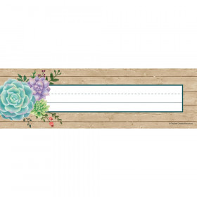 Rustic Bloom Name Plates, pack of 36