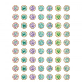Rustic Bloom Succulents Mini Stickers, Pack of 378