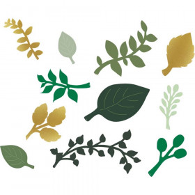 Green and Gold Paper Leaves, 40 Pieces