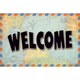 Travel the Map Welcome Postcards, Pack of 30