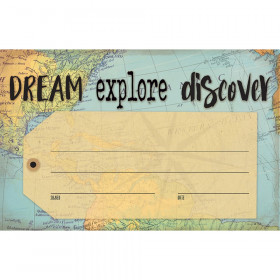 Travel the Map Dream Explore Discover Awards, Pack of 30