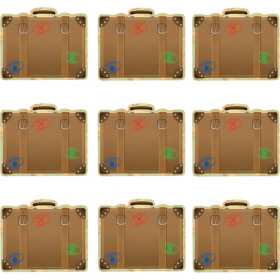 Travel the Map Luggage Mini Accents, Pack of 36