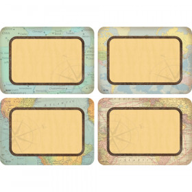 Travel the Map Name Tags/Labels - Multi-Pack