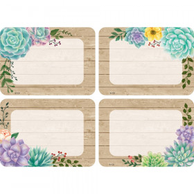 Rustic Bloom Name Tags/Labels, Multi-Pack