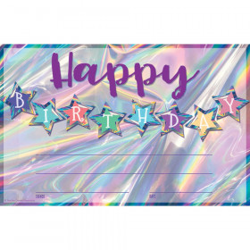 Iridescent Happy Birthday Awards