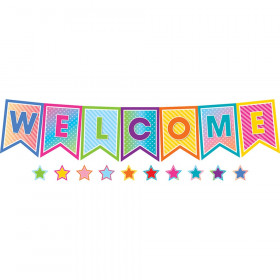 Pennants Welcome Bulletin Board St Colorful Vibes
