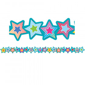 Stars Die-Cut Border Trim Colorful Vibes