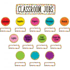 Confetti Classroom Jobs Mini Bulletin Board Set