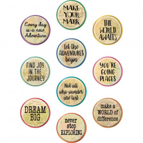 Travel the Map Positive Saying Accents, Pack of 30