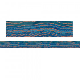Blue Geode Straight Border Trim