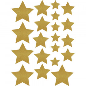 Gold Shimmer Stars Accents Assorted Sizes
