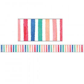 Watercolor Stripes Border Trim