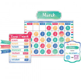 Watercolor Calendar Bulletin Board Display Set