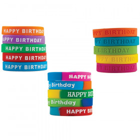 Happy Birthday Wristband Classroom Super Pack, Pack of 30