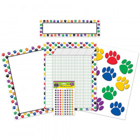 Colorful Paw Prints Classroom Pack