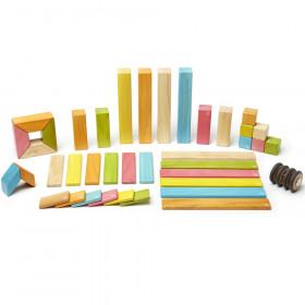 Magnetic Wooden Blocks, 42-Piece Set, Tints