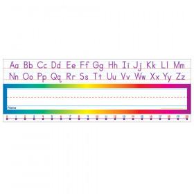 Alphabet / Number Line (Standard Manuscript) Name Plates 36 Per Package