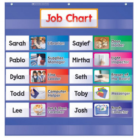 Scholastic Class Jobs Pocket Chart with Cards