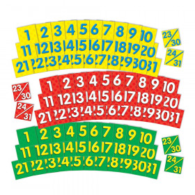 Calendar Dates (2 colored sets of dates) Pocket Chart Add-ons